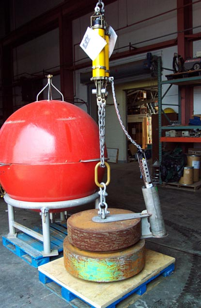 BGFE mooring anchor,SeaCat recorders and dual release package