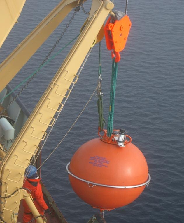 Sling detail: sphere deployment.