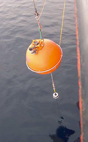 Top sphere deployment.