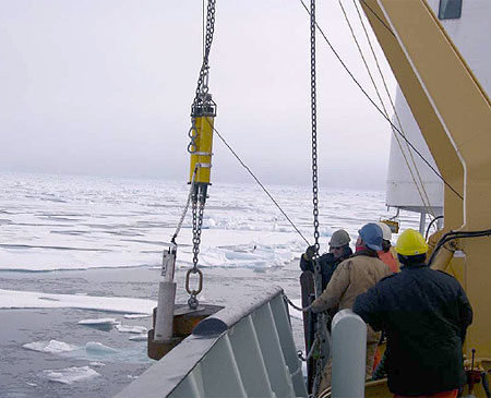 Lowering the anchor, BPR, and releases during anchor first mooring redeployment.