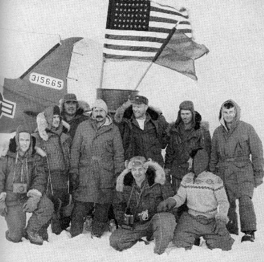 Air Force party posing at the North Pole