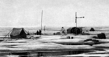 """North Pole"" station in summer 1937"