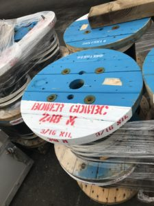spools of wire ready to ship out for OSNAP GDWBC project