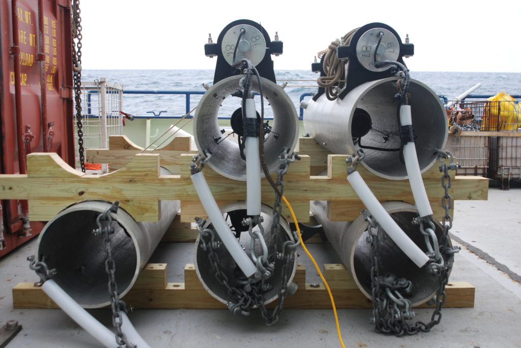 sound sources on deck before deployment