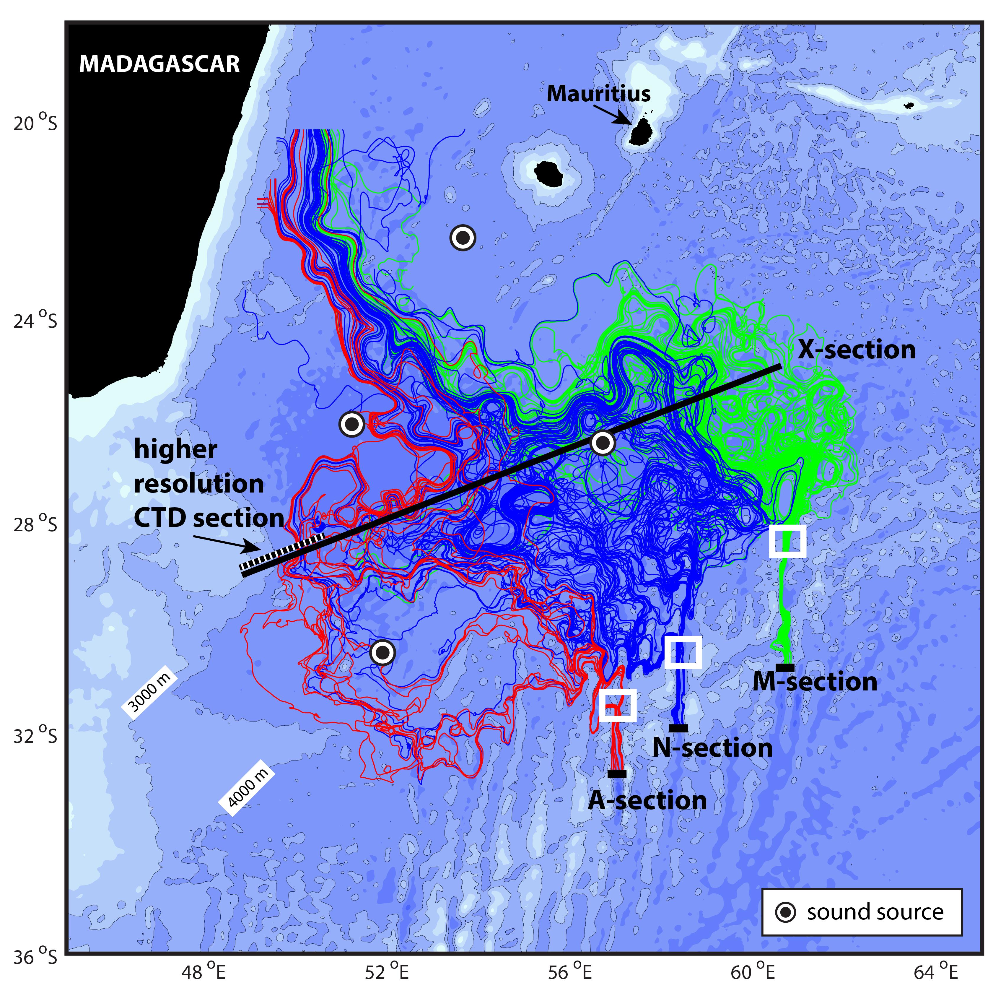 Fieldwork Schematic for the Deep Madagascar Basin Experiment