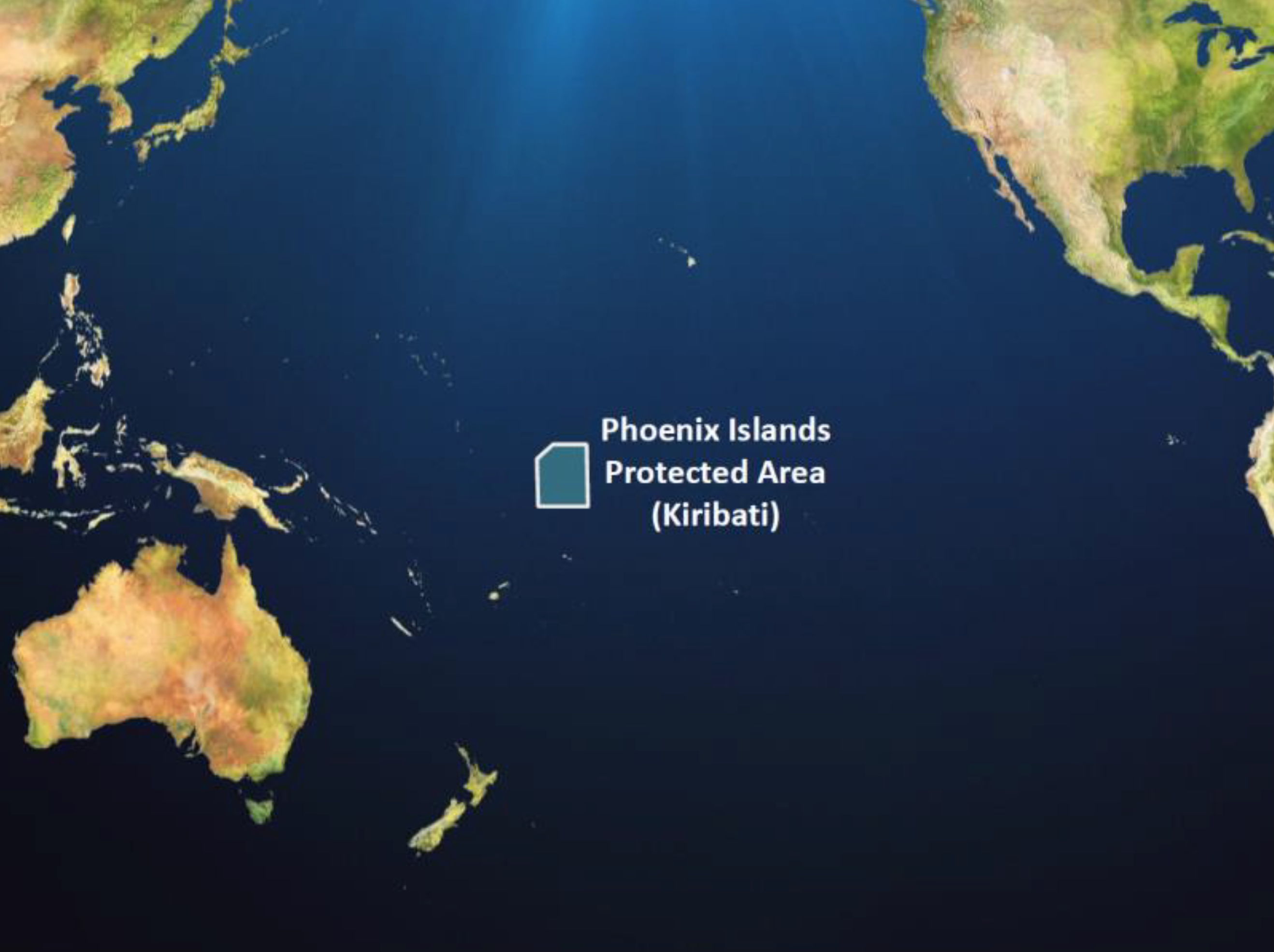 The location of the Phoenix Islands Marine Protected Area