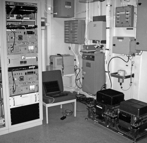 Two BGM-3 gravimeters installed on the USCG ship Healy. (Photo by Randy Herr)