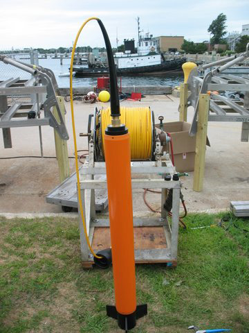 MISO PFPE marine magnetometer and winch system.