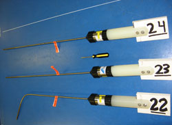 Cylindrical (old style) high-T fluid temperature loggers