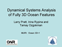 Dynamical Systems Analysis of Fully 3D Ocean Features