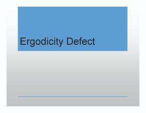 Ergodicity Defect