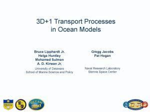3D+1 Transport Processes in Ocean Models