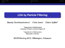 LDA by Particle Filtering