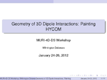 Geometry of 3D Dipole Interactions: Painting HYCOM