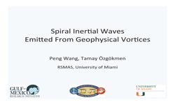 Spiral Inertial Waves Emitted from Geophyisical Vortices