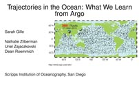 Trajectories in the Ocean: What We Learn from Argo
