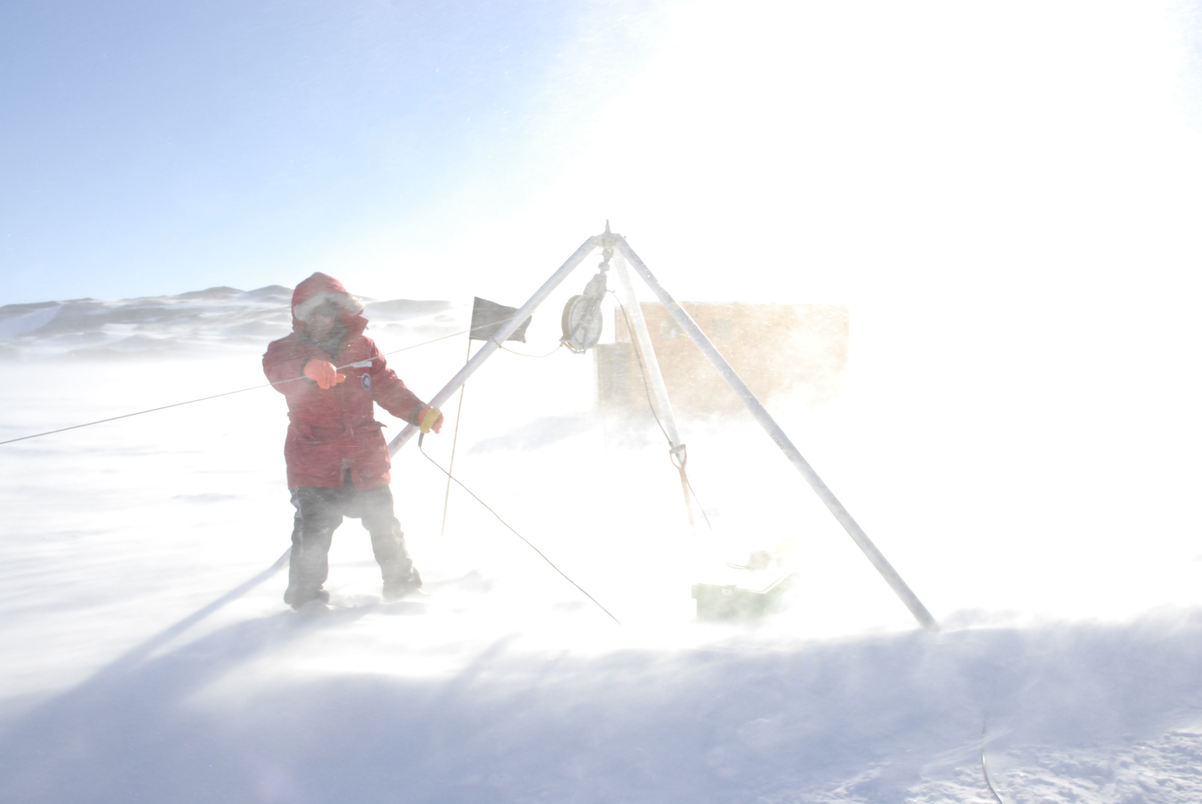 Mak Saito water column sampling on the sea-ice over the McMurdo Sound and the Ross Sea in November 2009