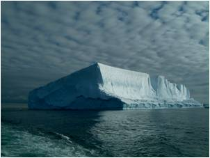 An iceberg observed in the Ross Sea.
