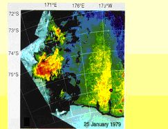 CZCS image of chlorophyll during January in the Ross Sea.