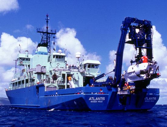 The Atlantis and Alvin