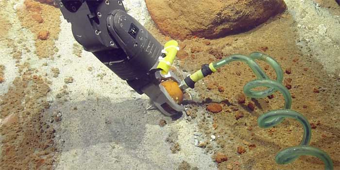 Rov Hercules measure temperature
