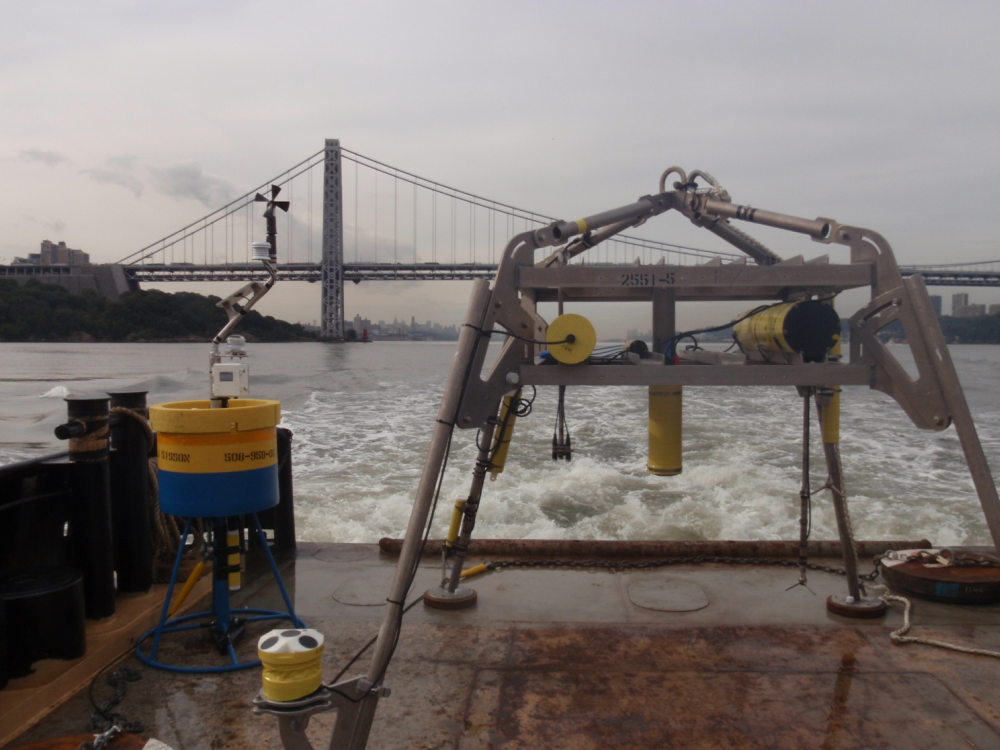 Sediment transport and extreme events in the Hudson